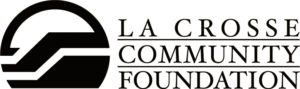 black and white LCF logo